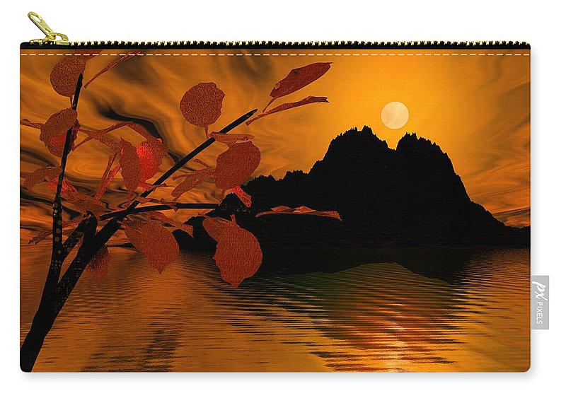 Landscape Carry-all Pouch featuring the digital art Golden Slumber Fills My Dreams. by David Lane