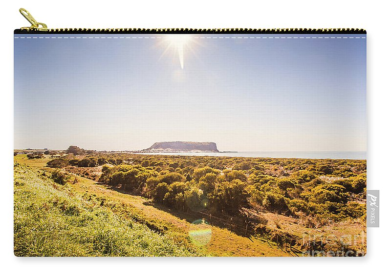 Tasmania Carry-all Pouch featuring the photograph Golden Stanley Landscape by Jorgo Photography - Wall Art Gallery