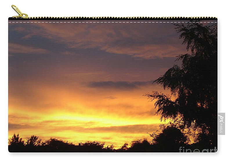 Sunset Carry-all Pouch featuring the photograph Golden Sunset 2 by Carol Lynch