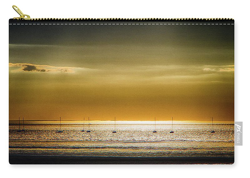 Sunset Carry-all Pouch featuring the photograph Golden Sunset by Robert Anastasi