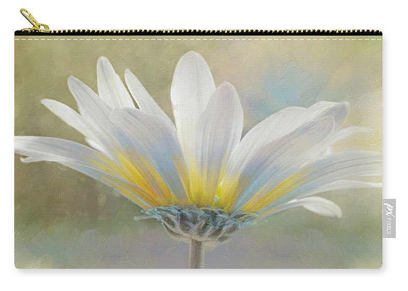 Texture. Love Carry-all Pouch featuring the photograph Golden Sunshine On A Most Splendid Daisy by Hal Halli