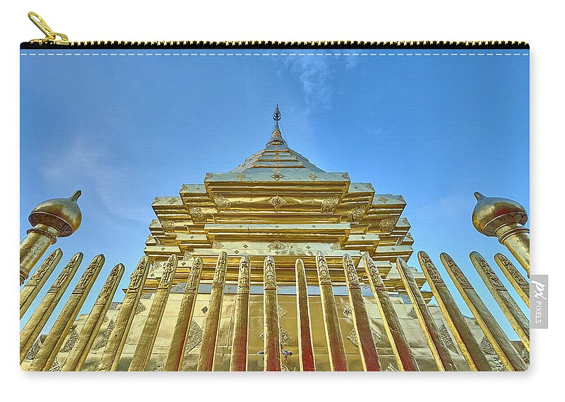 Architecture Carry-all Pouch featuring the photograph Golden Temple by Dmitry Dreyer