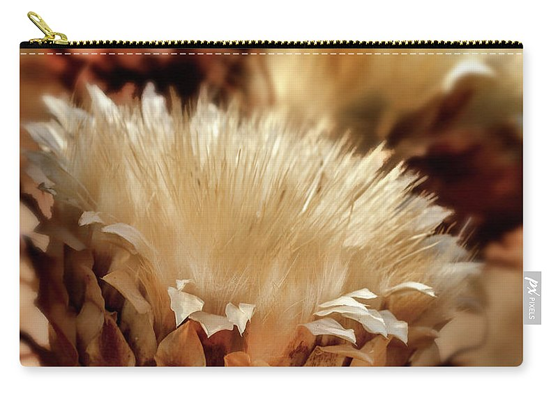 Wild Flowers Carry-all Pouch featuring the digital art Golden Thistle II by Bill Gallagher