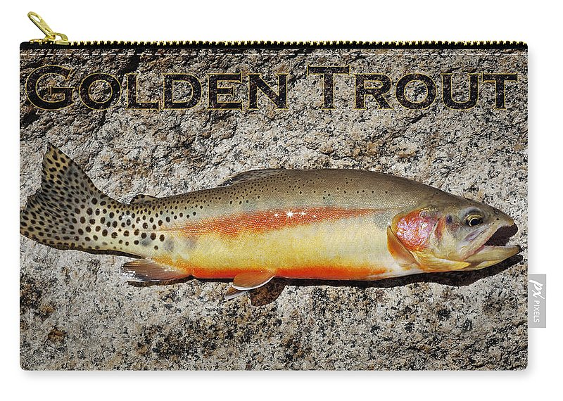 Golden Trout Carry-all Pouch featuring the photograph Golden Trout by Kelley King