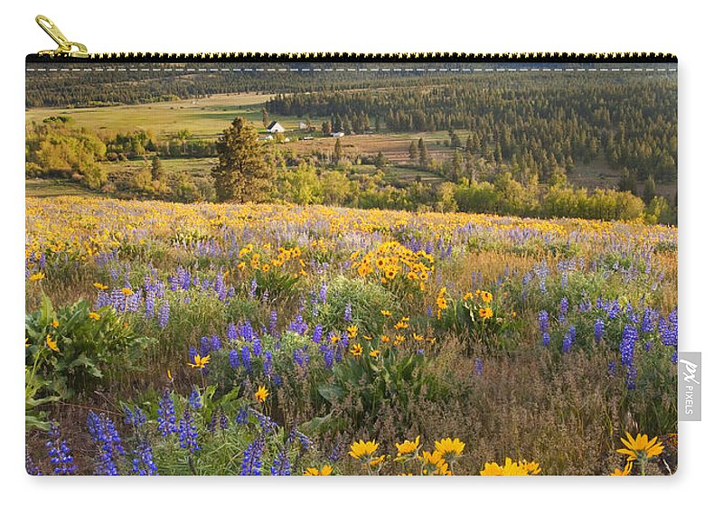 Wildflowers Carry-all Pouch featuring the photograph Golden Valley by Mike Dawson