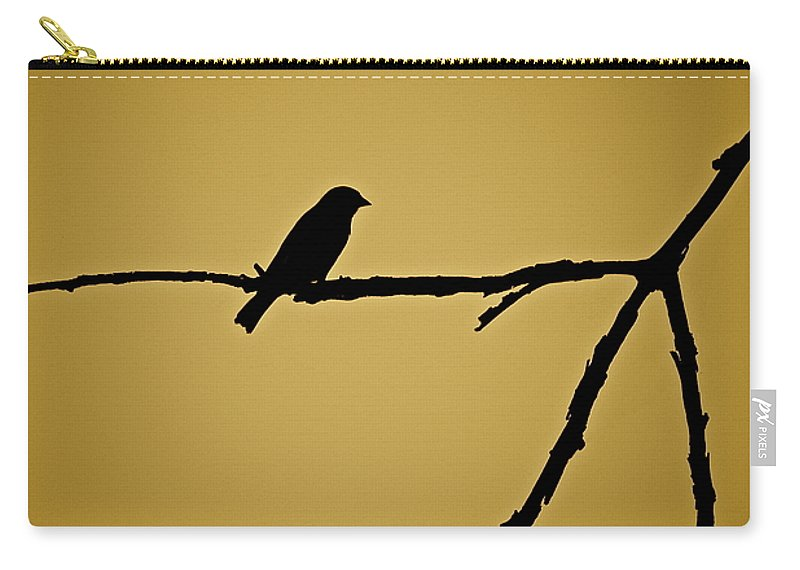 Bird Carry-all Pouch featuring the photograph Goldfinch by Diana Hatcher
