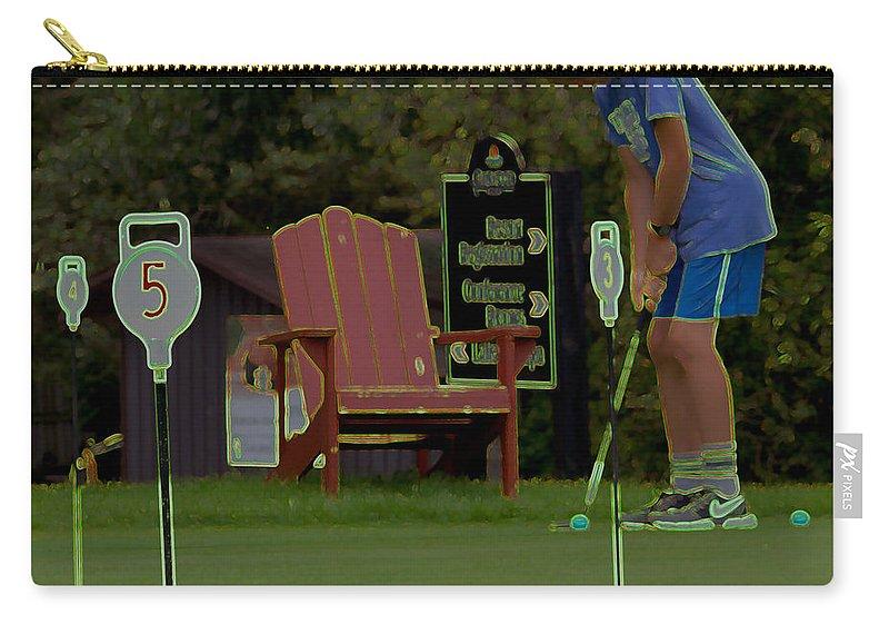 Oakwood Resort Carry-all Pouch featuring the photograph Golf Art 3 by John Scatcherd