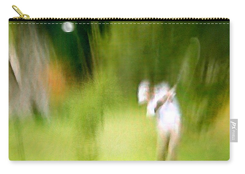 Golf Carry-all Pouch featuring the painting Golf At The Blue Monster In Doral Florida 01 by Miki De Goodaboom