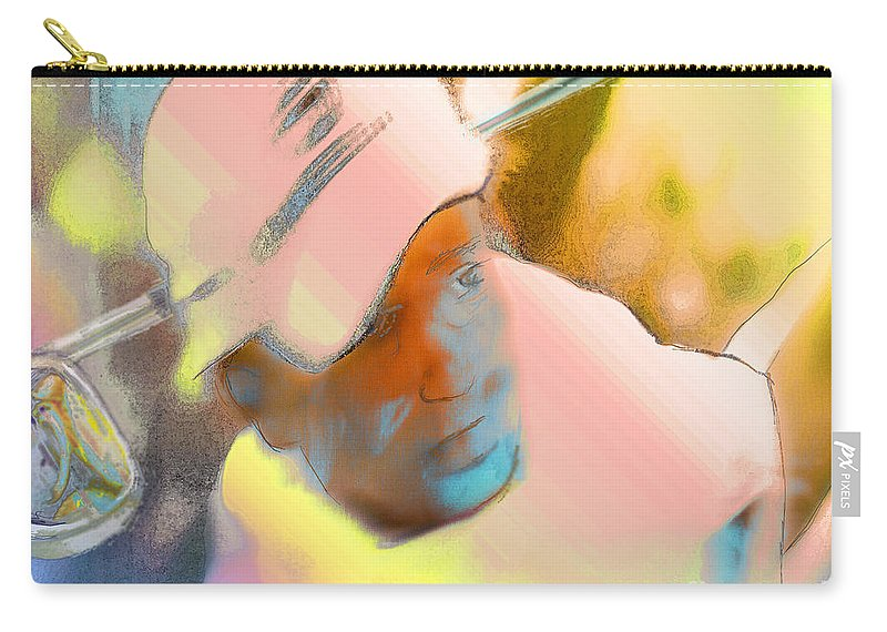 Golf Carry-all Pouch featuring the painting Golf Dream by Miki De Goodaboom