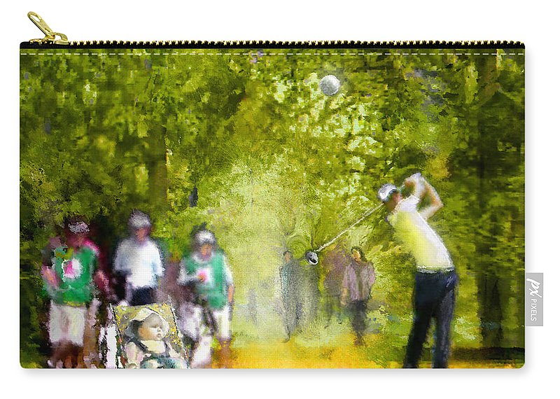 Golf Carry-all Pouch featuring the painting Golf Trophee Hassan II In Royal Golf Dar Es Salam Morocco 03 by Miki De Goodaboom