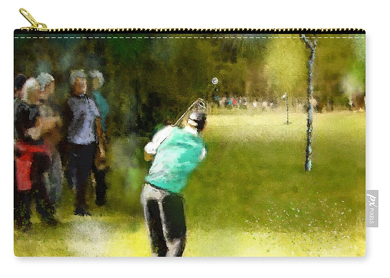 Golf Carry-all Pouch featuring the painting Golf Vivendi Trophy In France 02 by Miki De Goodaboom