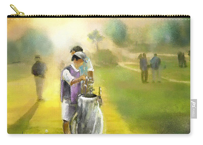 Golf Carry-all Pouch featuring the painting Golf Vivendi Trophy In France 03 by Miki De Goodaboom