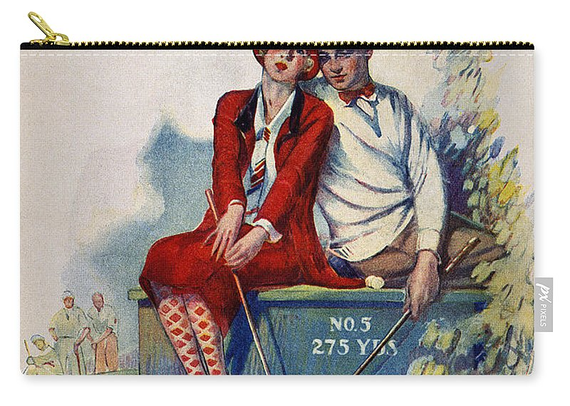 1925 Carry-all Pouch featuring the photograph Golfing: Magazine Cover by Granger