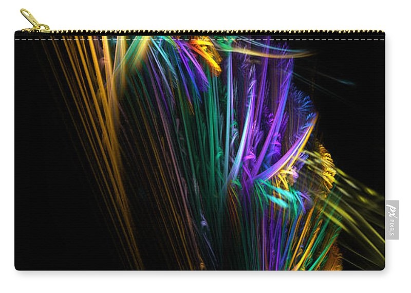 Fish Carry-all Pouch featuring the digital art Gone Fishing by Adam Vance