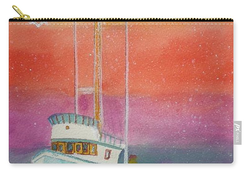 Ocean Carry-all Pouch featuring the painting Gone Fishing At Midnight by Hal Newhouser