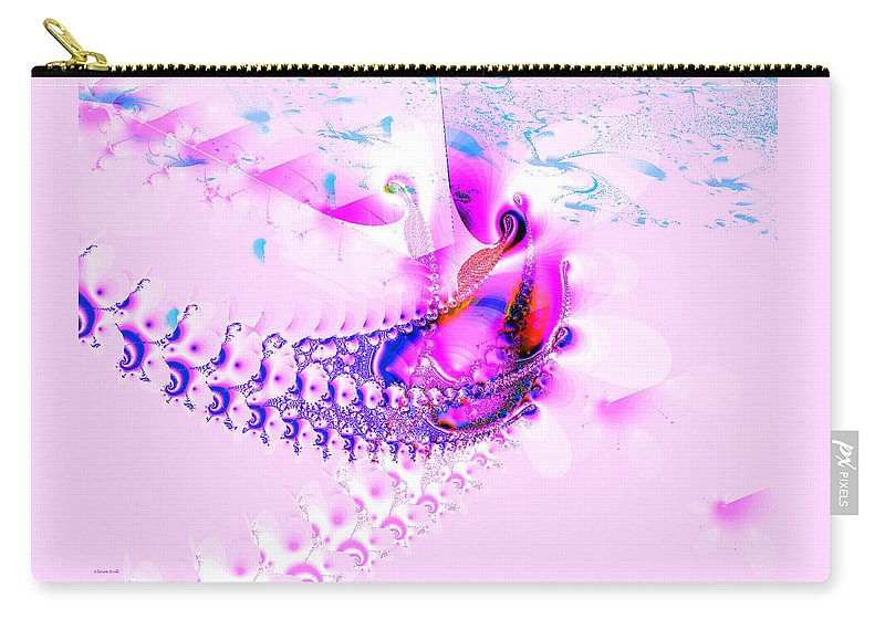 Pink Carry-all Pouch featuring the digital art Gone Fishing by Claire Bull