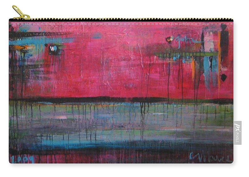 Abstract Carry-all Pouch featuring the painting Gone by Laurie Maves ART