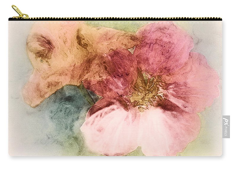 Flowers Carry-all Pouch featuring the digital art Gone Native by RC DeWinter