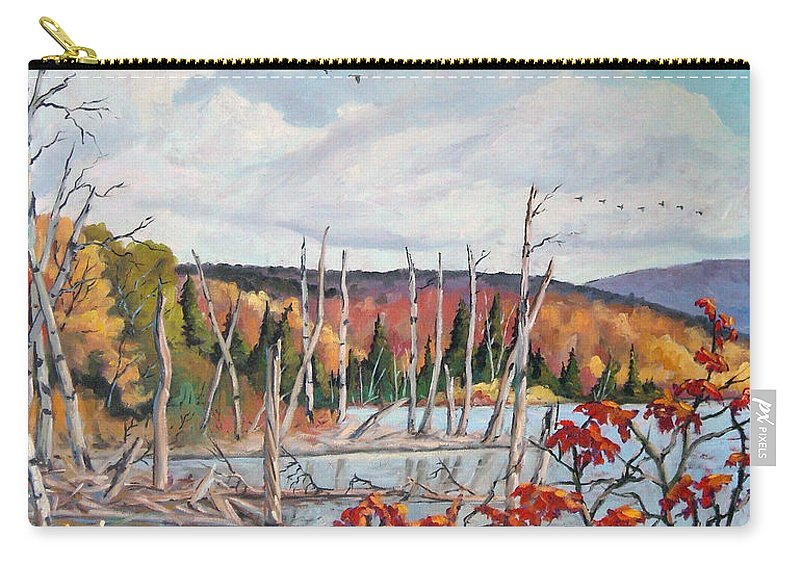 Original Painting Carry-all Pouch featuring the painting Gone South by Richard T Pranke