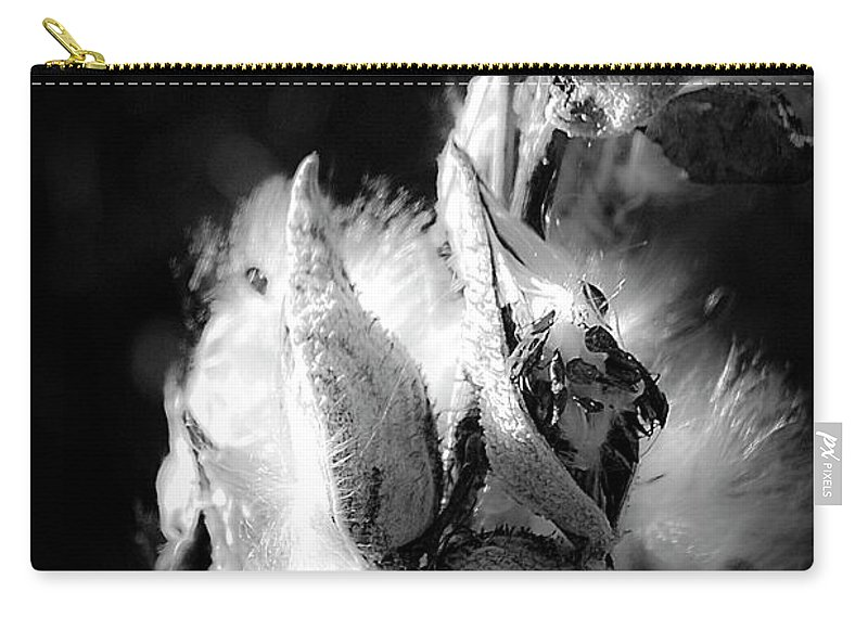 Seed Carry-all Pouch featuring the photograph Gone To Seed Milkweed 1 by Teresa Mucha