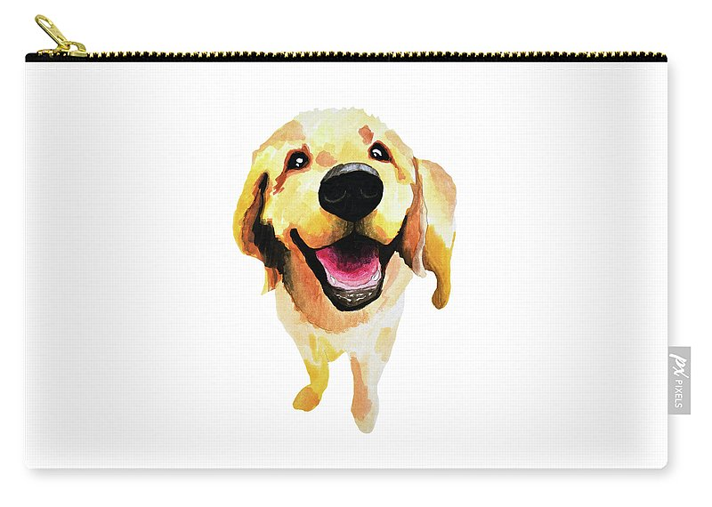 Dog Carry-all Pouch featuring the painting Good Boy by Amy Giacomelli