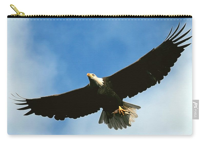 Bald Eagle Carry-all Pouch featuring the photograph Good Catch by Randall Ingalls