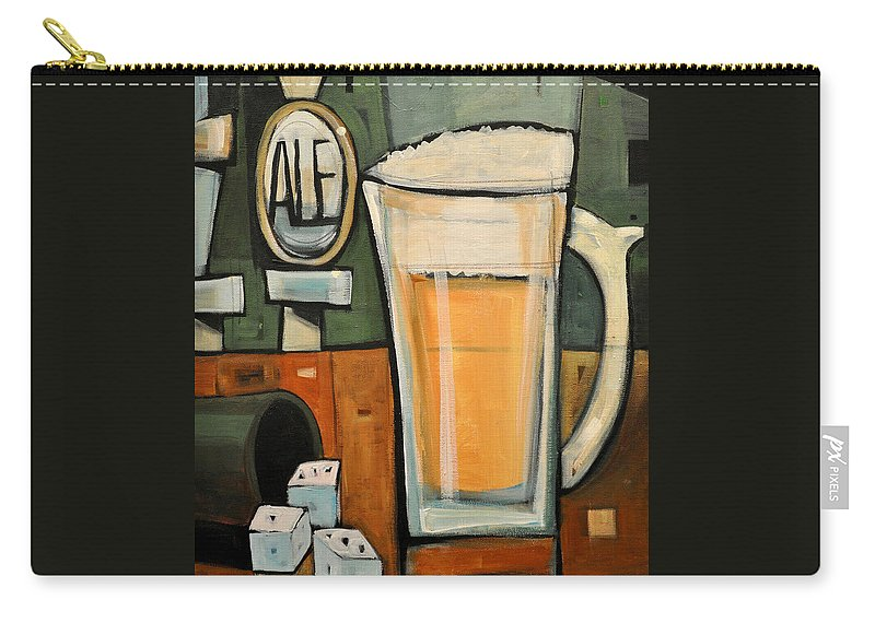 Beer Carry-all Pouch featuring the painting Good For What Ales You by Tim Nyberg