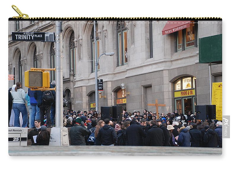 Church Carry-all Pouch featuring the photograph Good Friday On Trinity Place by Rob Hans