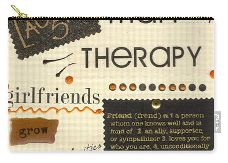 Gretting Cards Carry-all Pouch featuring the mixed media Good Friends by Angela L Walker