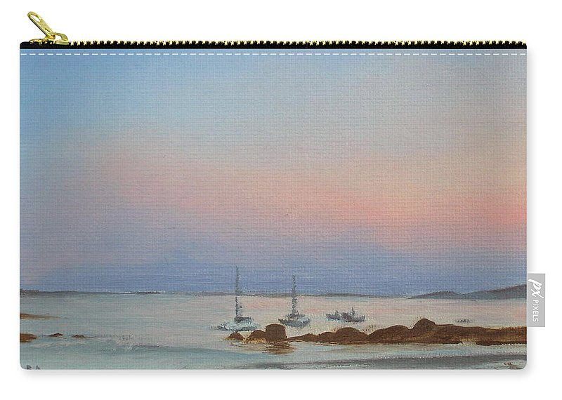 Seascape Carry-all Pouch featuring the painting Good Harbor by Lea Novak