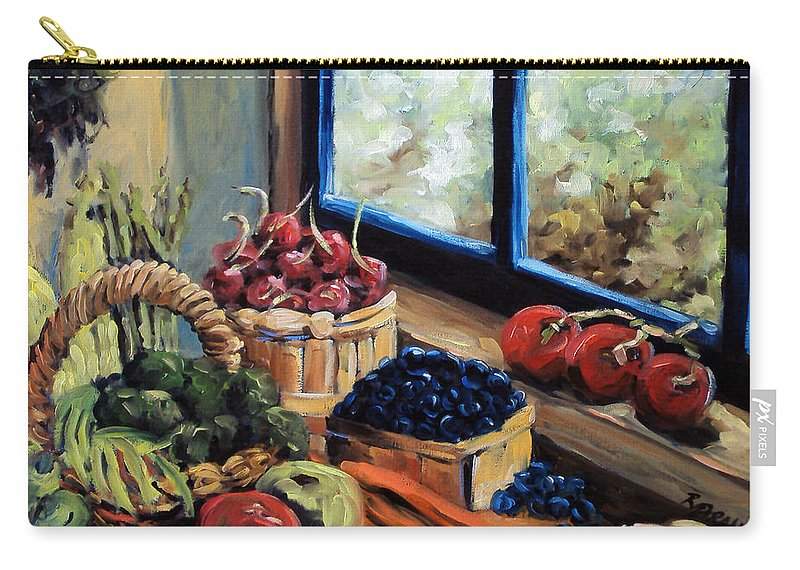 Art; Painting Carry-all Pouch featuring the painting Good Harvest by Richard T Pranke