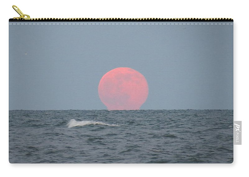 Artistry Carry-all Pouch featuring the photograph Good Moon Rising by Becky Haines