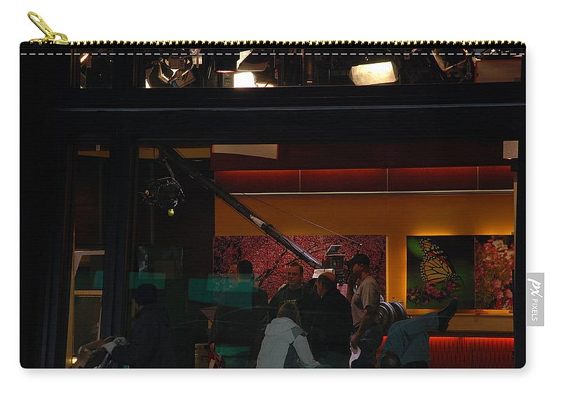 Studio Carry-all Pouch featuring the photograph Good Morning America Commercial Break by Rob Hans