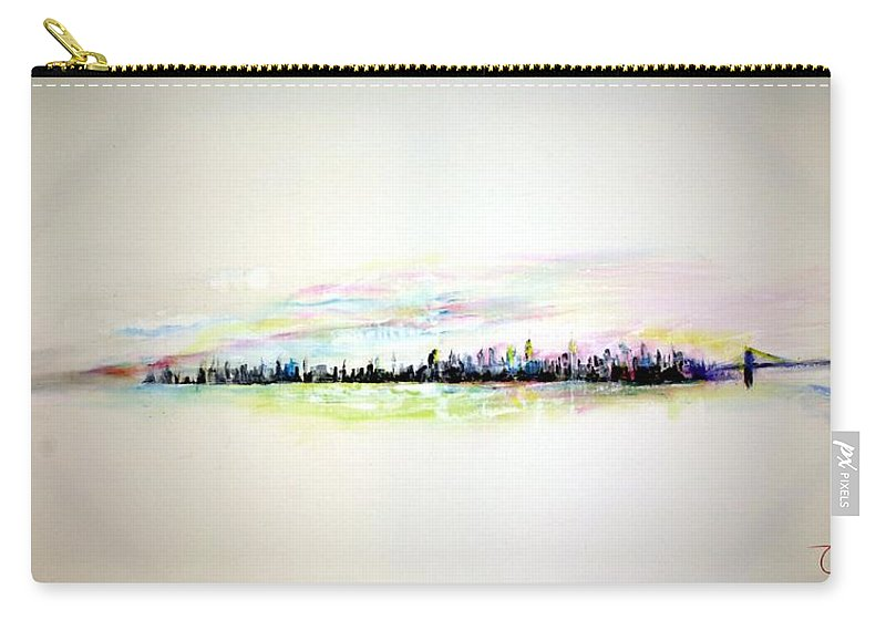 New York Carry-all Pouch featuring the painting Good Morning America by Jack Diamond