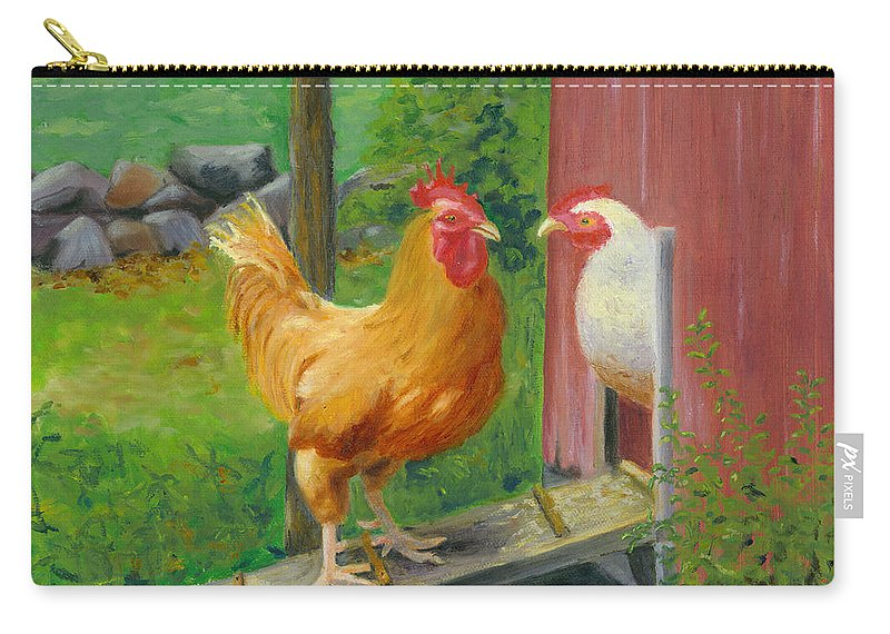 Landscape Carry-all Pouch featuring the painting Good Morning Dudley by Paula Emery