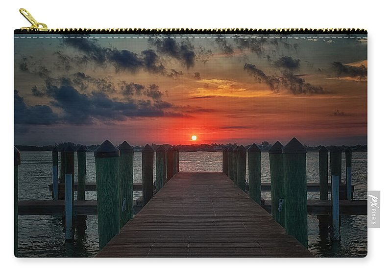 Pier Carry-all Pouch featuring the photograph Good Morning Fort Myers by Kim Hojnacki