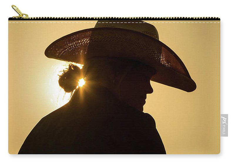 Cowgirl Carry-all Pouch featuring the photograph Good Morning Sunshine by Jack Bell