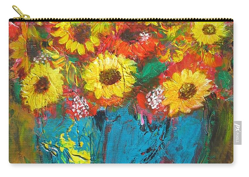 Acrylic Carry-all Pouch featuring the painting Good Morning Sunshine by Maria Watt