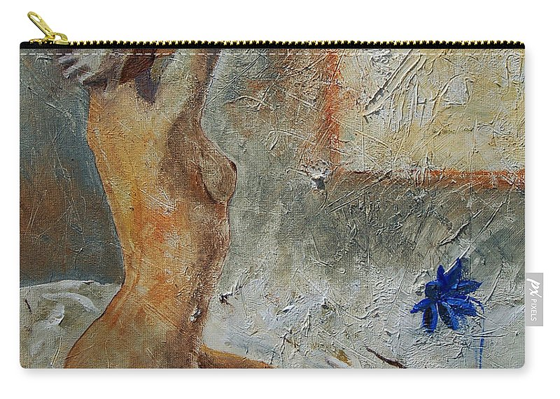 Nude Carry-all Pouch featuring the painting Good Morning Sunshine by Pol Ledent