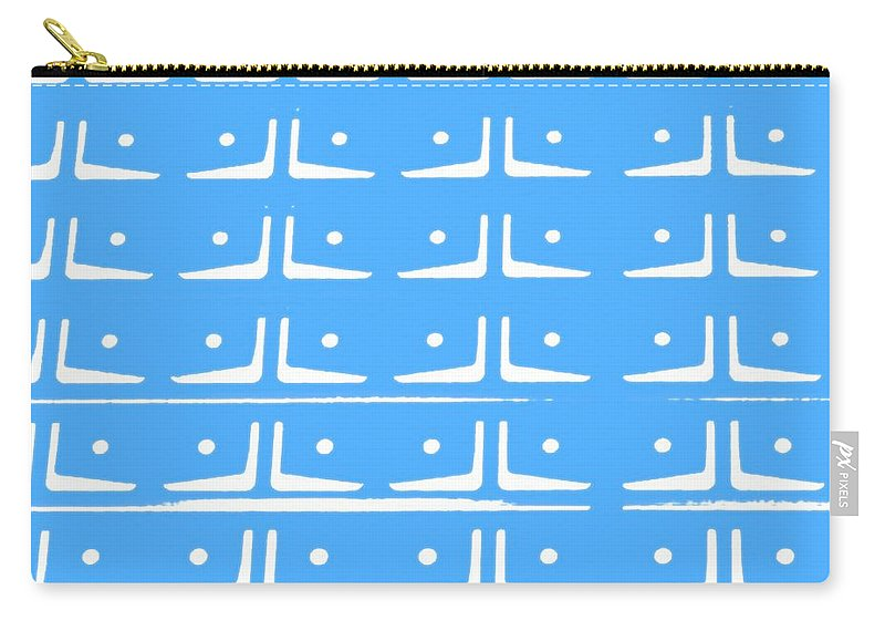 Abstract Prints Carry-all Pouch featuring the photograph Up Tempo In Baby Blueberry by Liz Love
