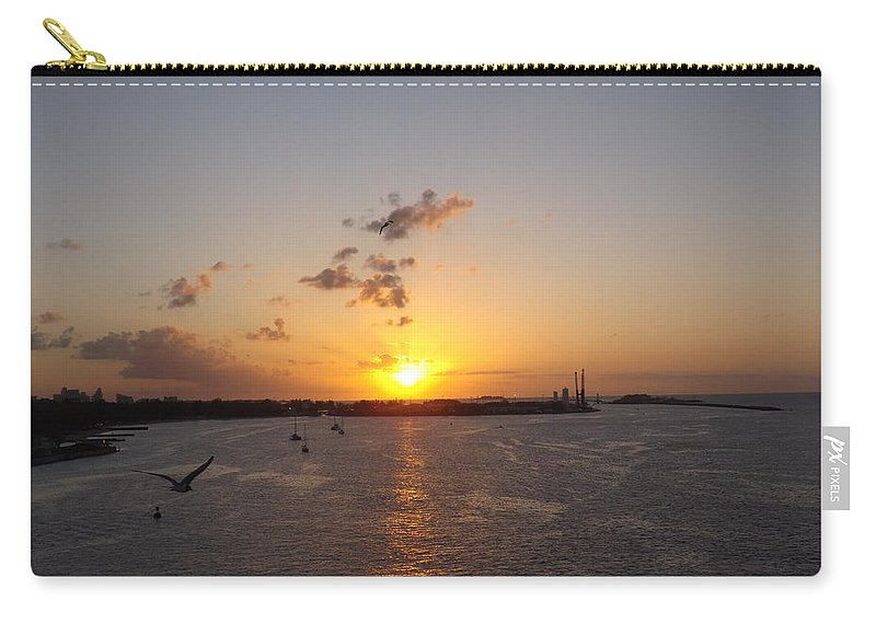 Sunset Carry-all Pouch featuring the photograph Goodby Sunset by Jacqueline Whitcomb