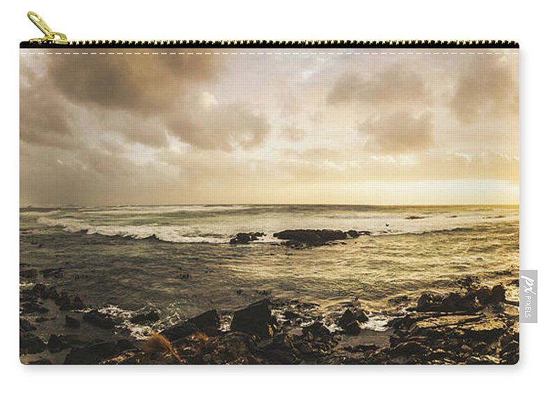 Beach Carry-all Pouch featuring the photograph Goodbye Sunshine by Jorgo Photography - Wall Art Gallery