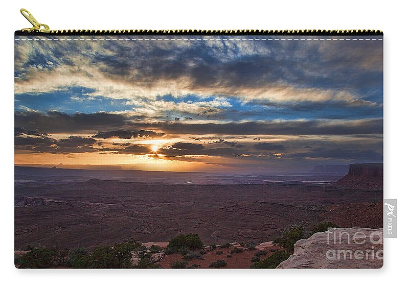 Utah Carry-all Pouch featuring the photograph The Long Wave Goodbye by Jim Garrison