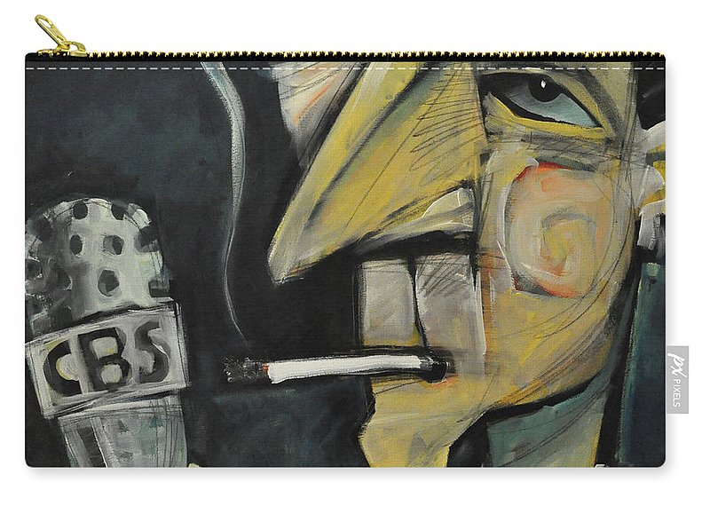Edward R. Murrow Carry-all Pouch featuring the painting Goodnight And Good Luck by Tim Nyberg