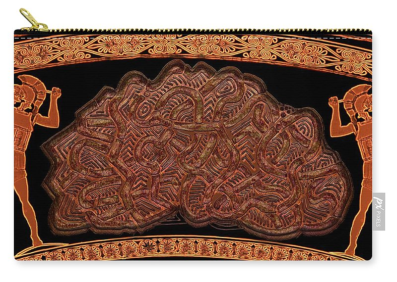 Legend Carry-all Pouch featuring the digital art Gordian Knot by Mark Sellers