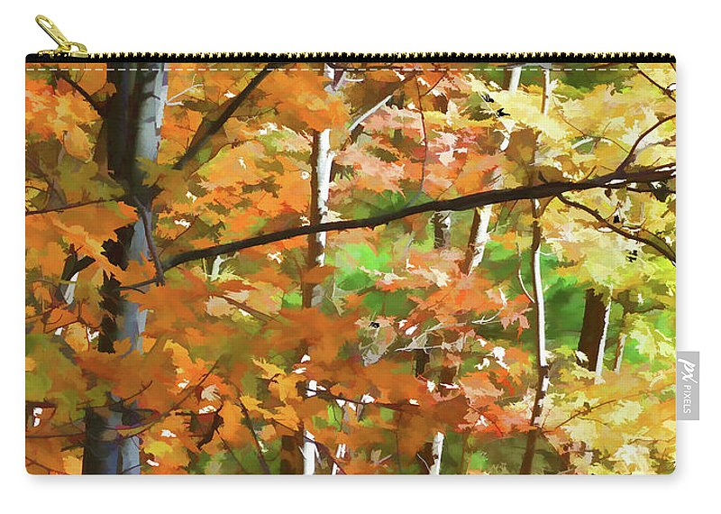 Gorgeous Carry-all Pouch featuring the painting Gorgeous by Jeelan Clark