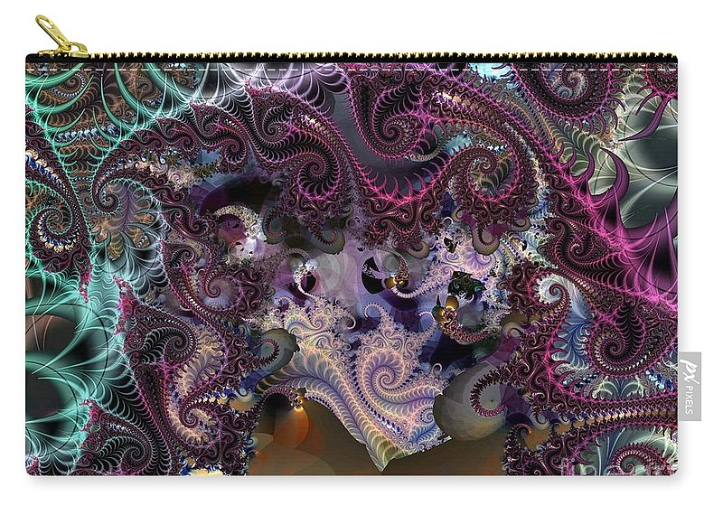 Gorgeous Carry-all Pouch featuring the digital art Gorgeous Pastels by Ron Bissett
