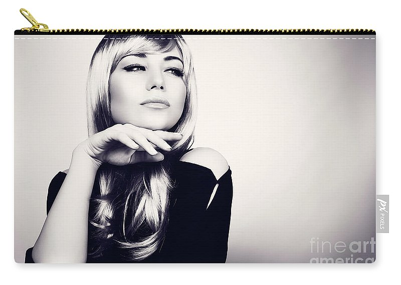 Adult Carry-all Pouch featuring the photograph Gorgeous Woman Portrait by Anna Om
