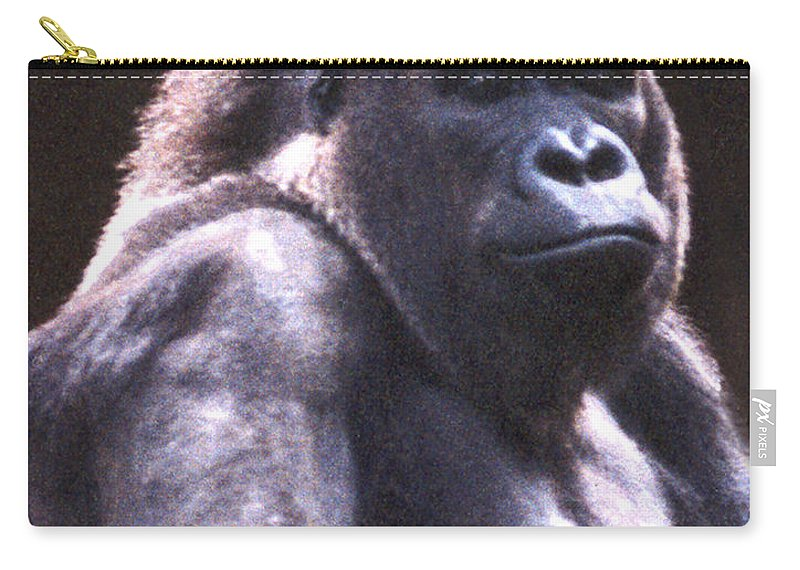 Gorilla Carry-all Pouch featuring the photograph Gorilla by Steve Karol