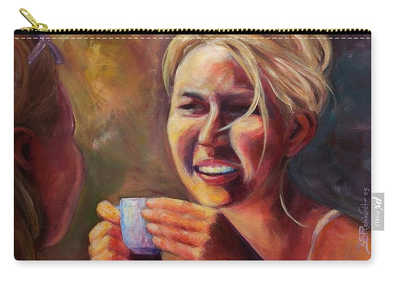 Girl Carry-all Pouch featuring the painting Gossip by Jason Reinhardt